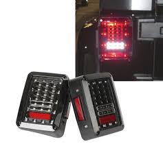jeep jk led tail light bulb 2x car integrated led tail light running brake light reverse backup