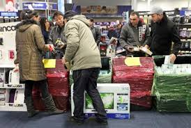 bay area consumers crowd stores with all black friday and