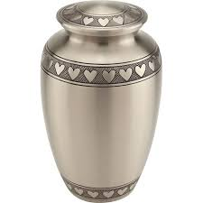 ash urns band of hearts cremation urn for ashes brass urns metal urns