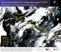 World Cloud Cover Map by Prelude To Totality A Final Look At The Total Solar Eclipse