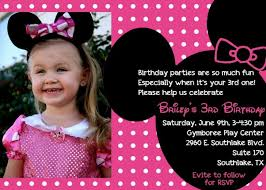 minnie mouse 5th birthday invitation wording party invitations ideas