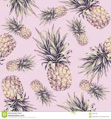 pineapple on a pink background watercolor colourful illustration
