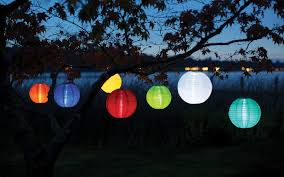 Solar Lantern String Lights by Soji Original 10 U2033 Round Solar Lantern U2013 Allsop Home U0026 Garden