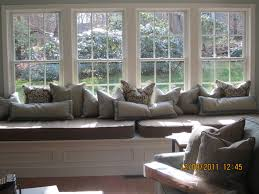 Making A Bay Window Seat - large bay window seat with misc pillows and cushions window
