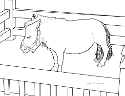 horse coloring pages pick and print your pony