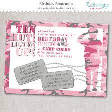 pink army invitation