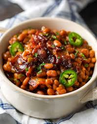 spicy baked beans with bacon the chunky chef