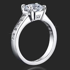 square engagement rings with band invisible channel set princess ring wide band with
