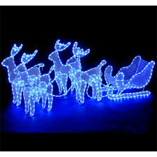 led christmas tree electric blue and reindeer on pinterest
