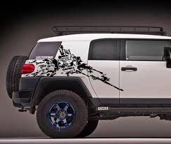 product toyota fj cruiser side mud splash vinyl decals stickers