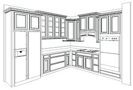 Kitchen Cabinets Layout Design How To Design Kitchen Cabinets Layout Faced
