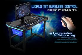 Pc Gaming Desks E Blue Usa Wireless Glowing Led Pc Gaming Desk Table Buy E Blue