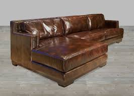 Restoration Hardware Leather Chair Dark Brown Leather Sectional Sofa With Chaise Lounge