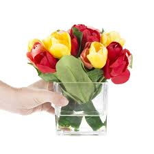 floral arrangement tulip floral arrangement in glass vase reviews joss