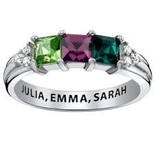 mothers birthstone rings buy stackable engraved mothers rings mothers day 2016
