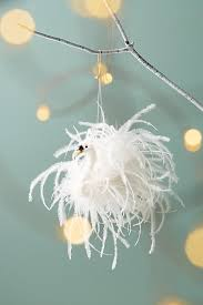 swan feathers ornament anthropologie
