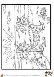 a colorier le dessin de l u0027hamac entre les cocotiers sous un beau