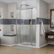 home depot bathroom design center dreamline vitreo x 58 in to 58 3 4 in x 72 in semi framed pivot