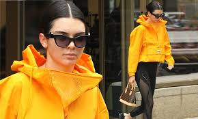 Yellow Raincoat Girl Meme - kendall jenner sports bright yellow jacket at an nyc gym daily
