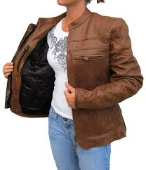 ladies motorcycle jacket womens retro brown cafe u0027 style scooter motorcycle jacket item