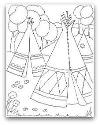 native american coloring page maybe for the kids table at