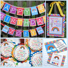 Rainbow Party Decorations 120 Best Rainbow Birthday Party Images On Pinterest Birthday