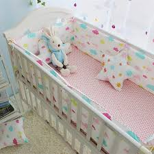 colorful clouds pattern baby crib bedding set newborn bedding