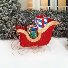 outdoor yard decor jumbo sleigh gift boxes