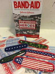 Red And White Flag With A Cross Our Veteran Heroes Band Aid Brand Adhesive Bandages Partners