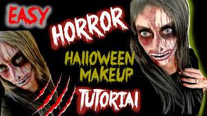 Horror Halloween Makeup by Easy Horror Halloween Makeup Tutorial Youtube