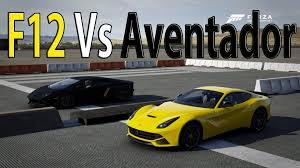 berlinetta vs lamborghini aventador forza motorsport 6 drag race f12 berlinetta vs