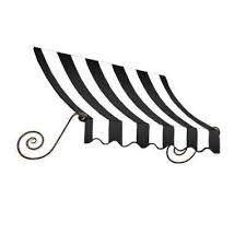 Modesto Tent And Awning Black White Stripe Awnings Doors U0026 Windows The Home Depot