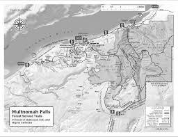 Columbia River Map The Friends Of Multnomah Falls Columbia River Gorge Oregon