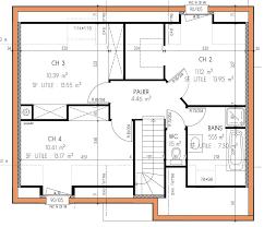 plan etage 4 chambres plan de maison 4 chambres maison traditionnelle à étage projets