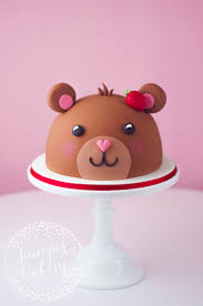 teddy bear cake tutorial by juniper cakery минимализм