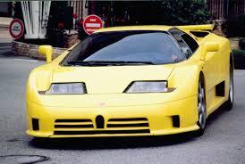 yellow bugatti bugatti eb110ss chassis ss39009