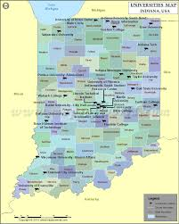 American University Campus Map List Of Universities In Indiana Map Of Indiana Colleges And