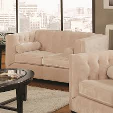 amazon com coaster home furnishings transitional loveseat almond