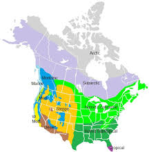 america climate zones map climate regions of america beaches map humid general