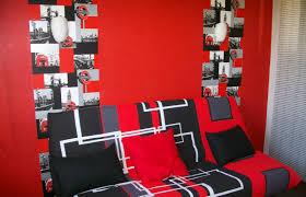 chambre gris et rouge chambre noir et rouge ado design de maison