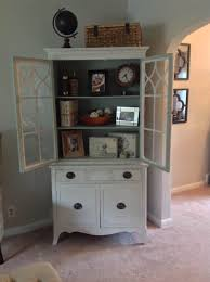 add color to your china cabinet pantry dining room breakfront vintage painted shabby chic china cabinet rustic farmhouse country beach cottage storage