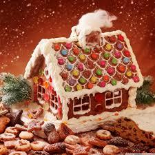 gingerbread house and cookies hd desktop wallpaper high