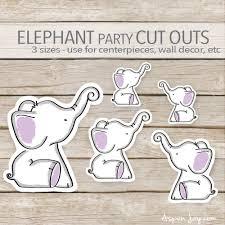purple elephant baby shower decorations purple elephant party decoration instant printable