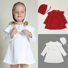 cute white red toddler girls sweater dress autumn winter long
