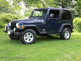 2006 jeep wrangler sport 4x4 in midnight blue pearl 710805