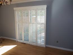 Faux Wood Blinds For Patio Doors Patio Ideas Patio Door Blinds Horizontal With 4 Panels Slider And
