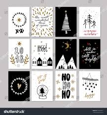 set doodle christmas greeting cards vector stock vector 732082681