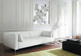 White Leather Couch Living Room Living Room Unique White Leather Sofa Frosted Glass Window White