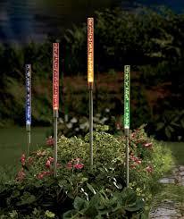 Solar Plant Lights by Amazon Com Multi Colored Solar Tube Light Set Patio Lawn U0026 Garden