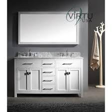 60 Double Sink Bathroom Vanity Reviews Virtu Usa Caroline 60